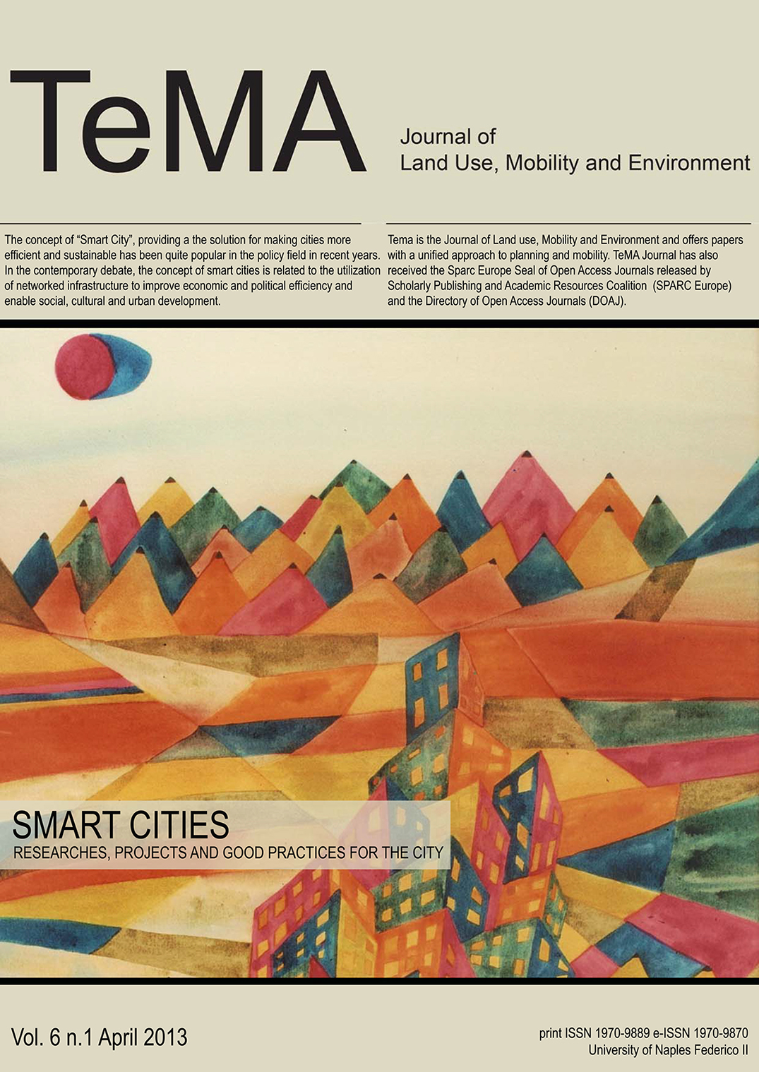 22_Vol 6 N° 1 (2013) Smart Cities Researches, Projects and Good Practices for the City